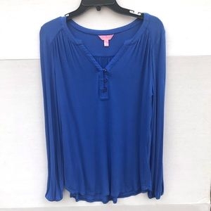 Lilly Pulitzer Royal Blue Comfy Shirt Size Small